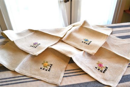 Cute linen cocktail napkins~theyd sit a drawer more than theyd be used at my house.