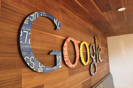 The Google wordmark in the gourmet kitchen